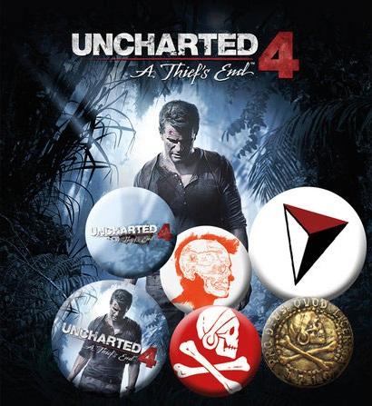 Conjunto de 6 Pins Uncharted 4