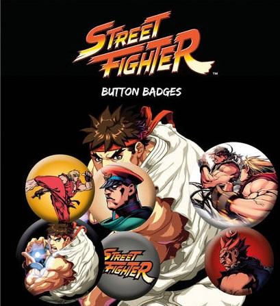 Conjunto de 6 Pins Street Fighter