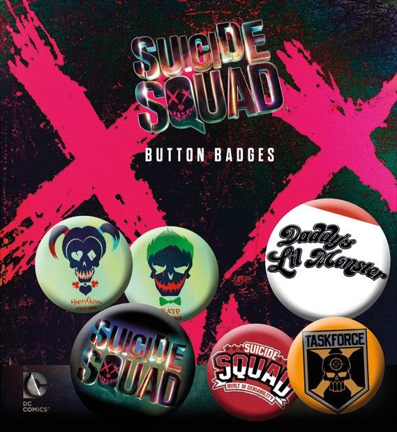 Conjunto de 6 Pins Suicide Squad