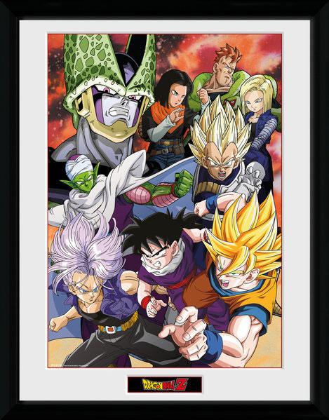 Poster com Moldura Premium Dragonball Z Cell Saga 45 x 34 cm
