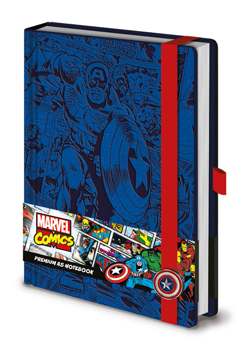 Marvel Comics Premium Notebook A5 Retro Captain America