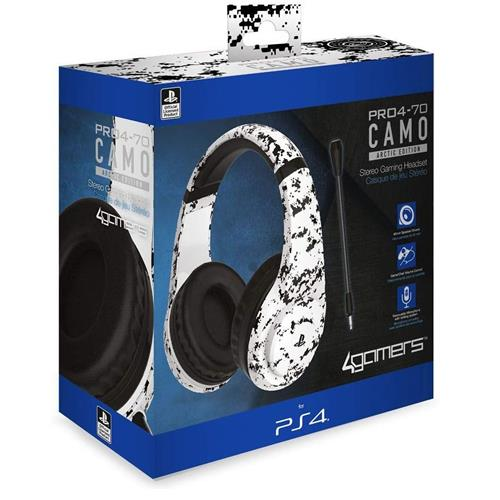Auscultadores Gaming 4Gamers Stereo PRO4-70 Camo Branco PS4