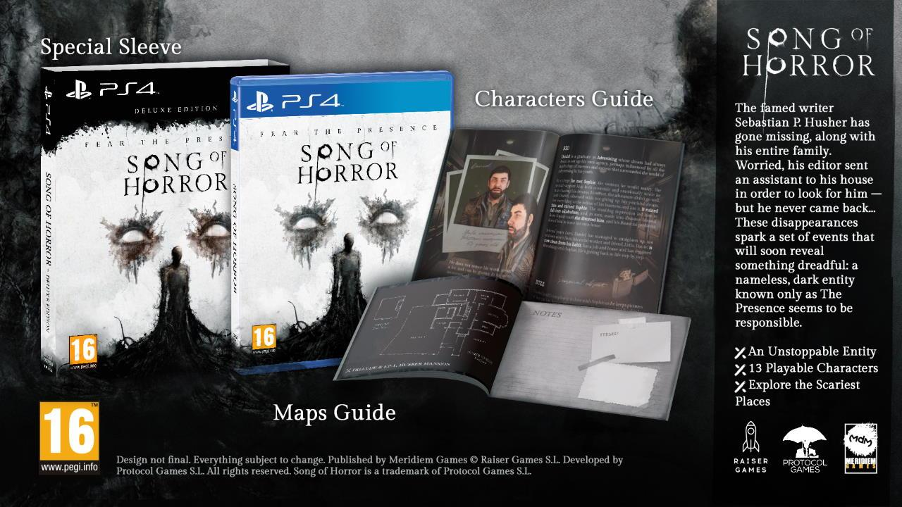 Song of Horror - Deluxe Edition PS4 (Novo)