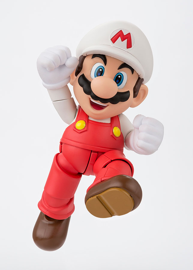 Super Mario Bros. S.H. Figuarts Action Fig. Fire Mario Tamashii Web Exclus.