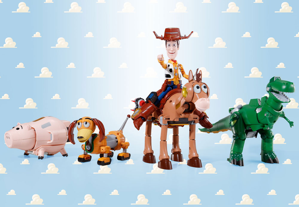 Toy Story Chogokin Diecast 5-Pack Combination Woody Robo Sheriff Star 23 cm
