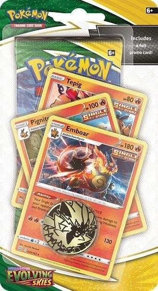 Pokémon - Evolving Skies Premium Checklane Blister Tepig Evolution English