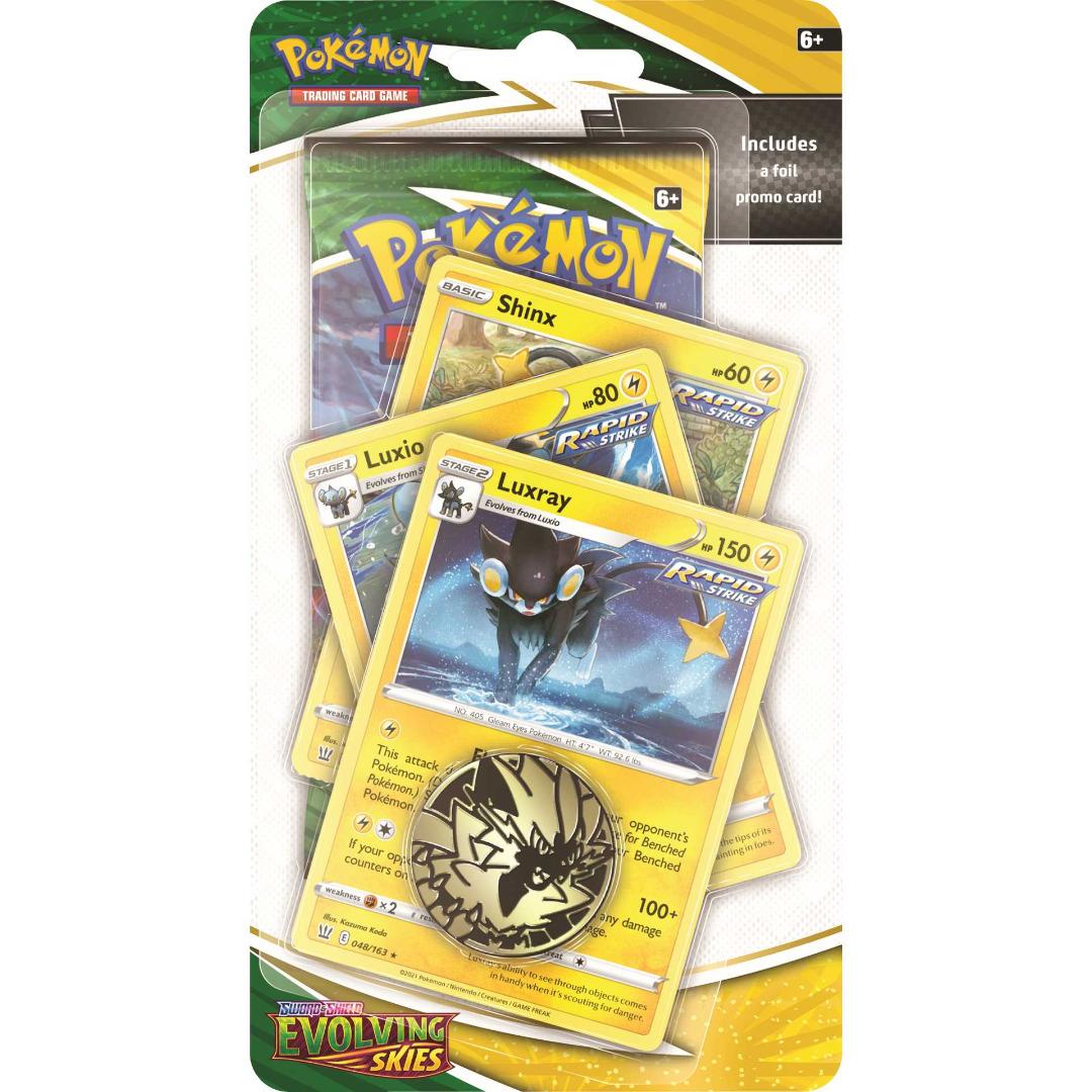 Pokémon - Evolving Skies Premium Checklane Blister Shinx Evolution English