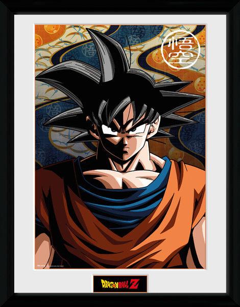 Poster com Moldura Premium Dragonball Z  Son Goku 45 x 34 cm