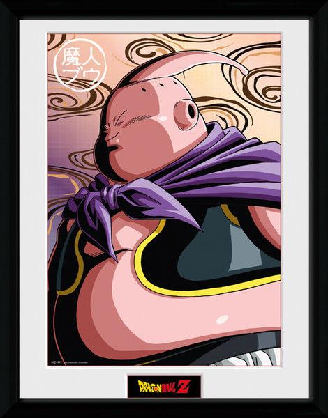 Poster com Moldura Premium Dragonball Z Buu 45 x 34 cm