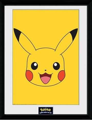 Poster com Moldura Premium Pokemon Pikachu 45 x 34 cm