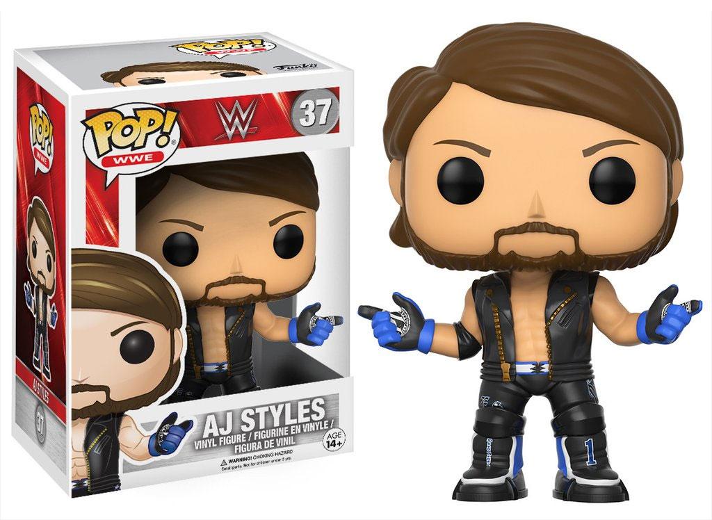 Funko POP! WWE Superstars - AJ Styles Vinyl Figure 10 cm