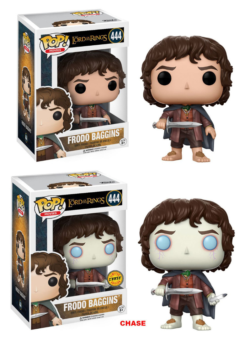 Lord of the Rings POP! Movies Vinyl Figures Frodo Baggins + Chase 10 cm
