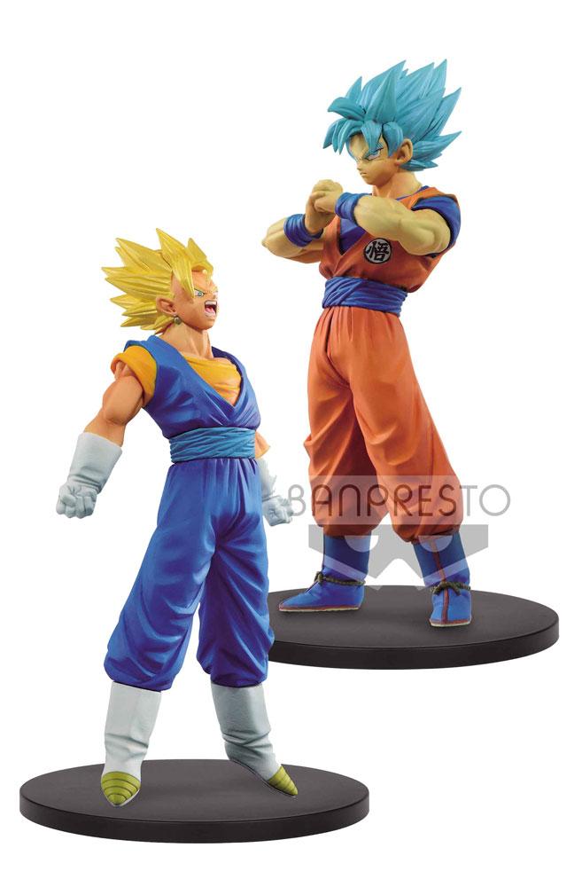 Dragonball Super Warriors DXF Figures SSJ Vegetto + SSJ Blue Goku 18 cm