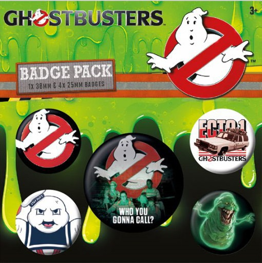 Conjunto de 5 Pins Ghostbusters Who You Gonna Call