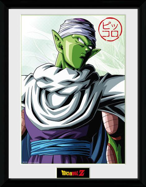 Poster com Moldura Premium Dragonball Z Piccolo 45 x 34 cm