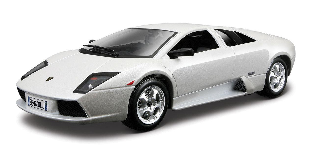 Lamborghini Murcielago 2008 scale 1:24 (White/Branco) 25 cm