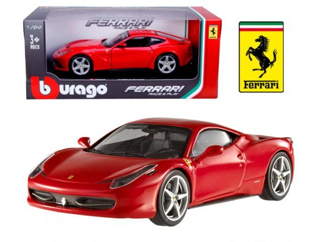 Ferrari 458 Italia scale 1:24 (Red/Vermelho) 25 cm