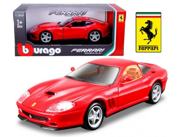 Ferrari 550 Maranello scale 1:24 (Red/Vermelho) 25 cm