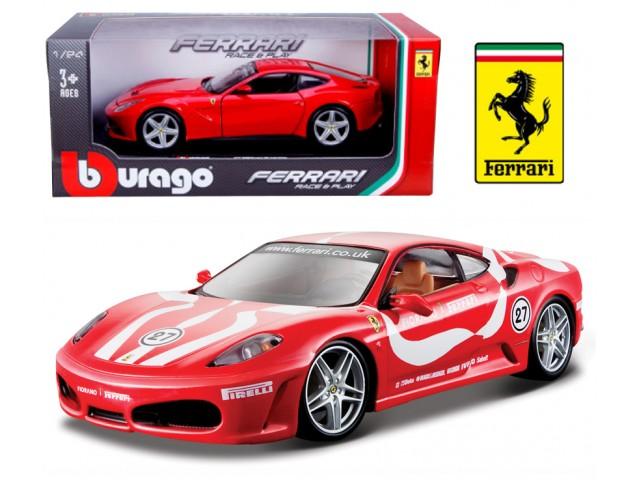 Ferrari F430 Fiorano scale 1:24 (Red/Vermelho) 25 cm