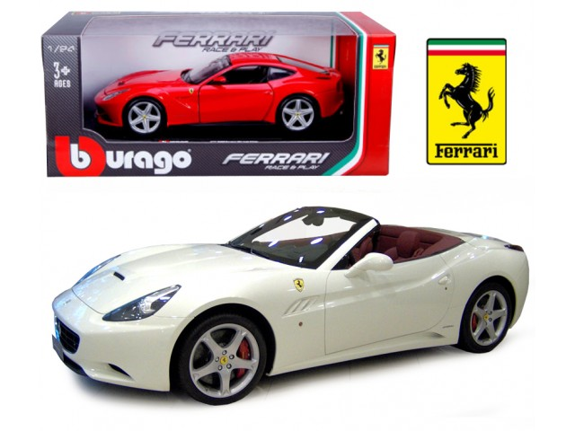 Ferrari California T Open Top scale 1:24 (White/Branco) 25 cm