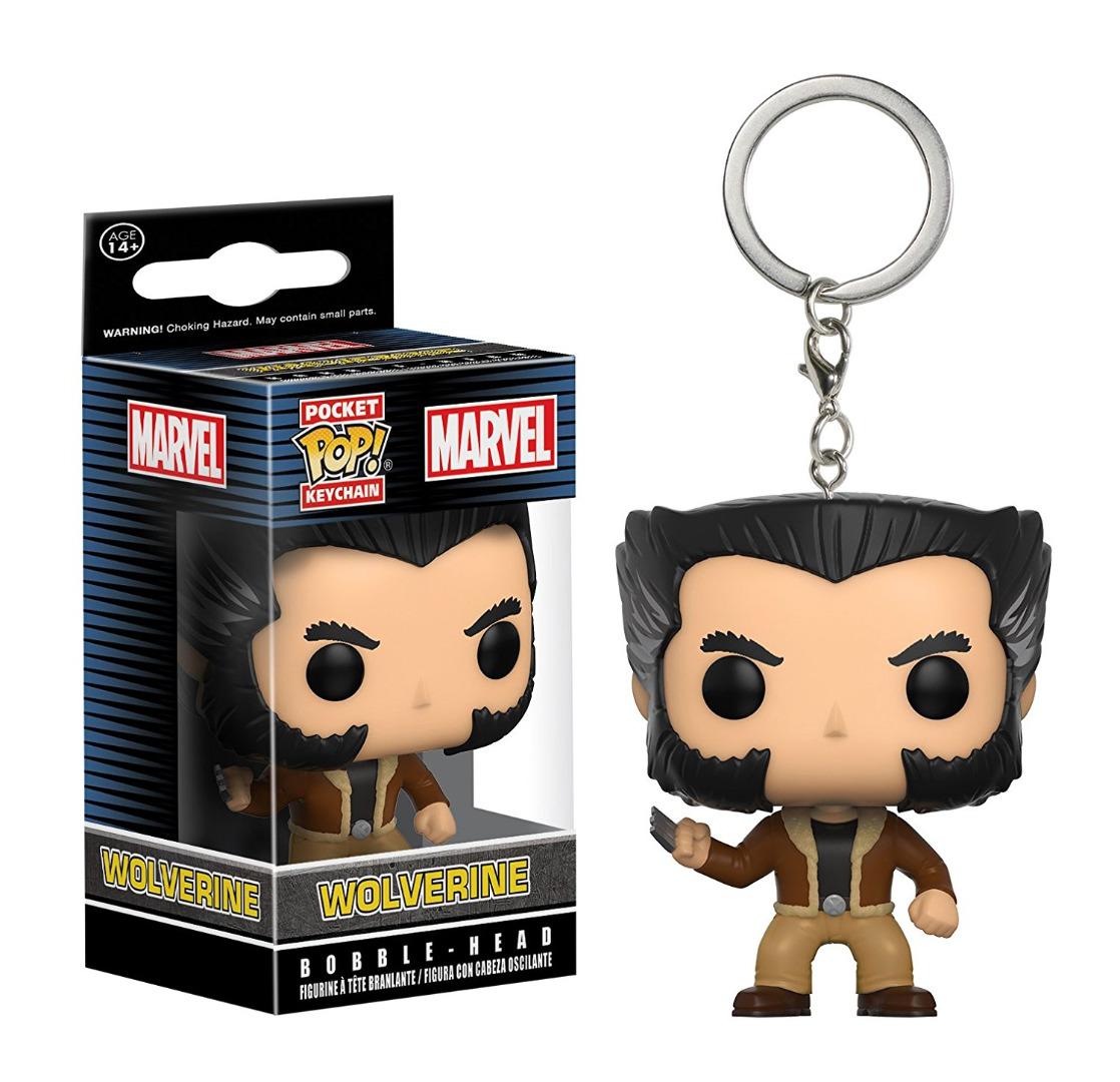 Pocket Pop! Marvel Wolverine Bobble-Head Keychain Vinyl Figure