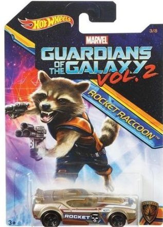 Hot Wheels Guardians Of The Galaxy Vol 2 RocketRaccoon Fast Fish Scale 1:64
