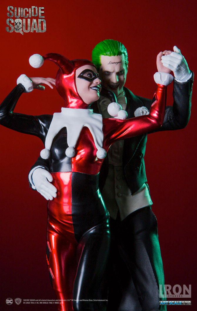 Suicide Squad Deluxe Statue 1/10 Harley Quinn & The Joker 19 cm