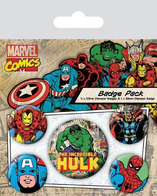 Conjunto de 5 PINS Hulk