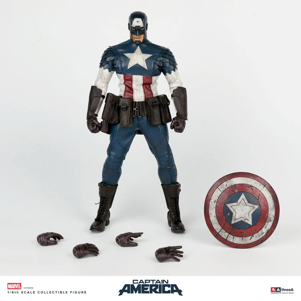 Marvel x ThreeA Action Figure 1/6 Captain America by Ashley Wood 32 cm