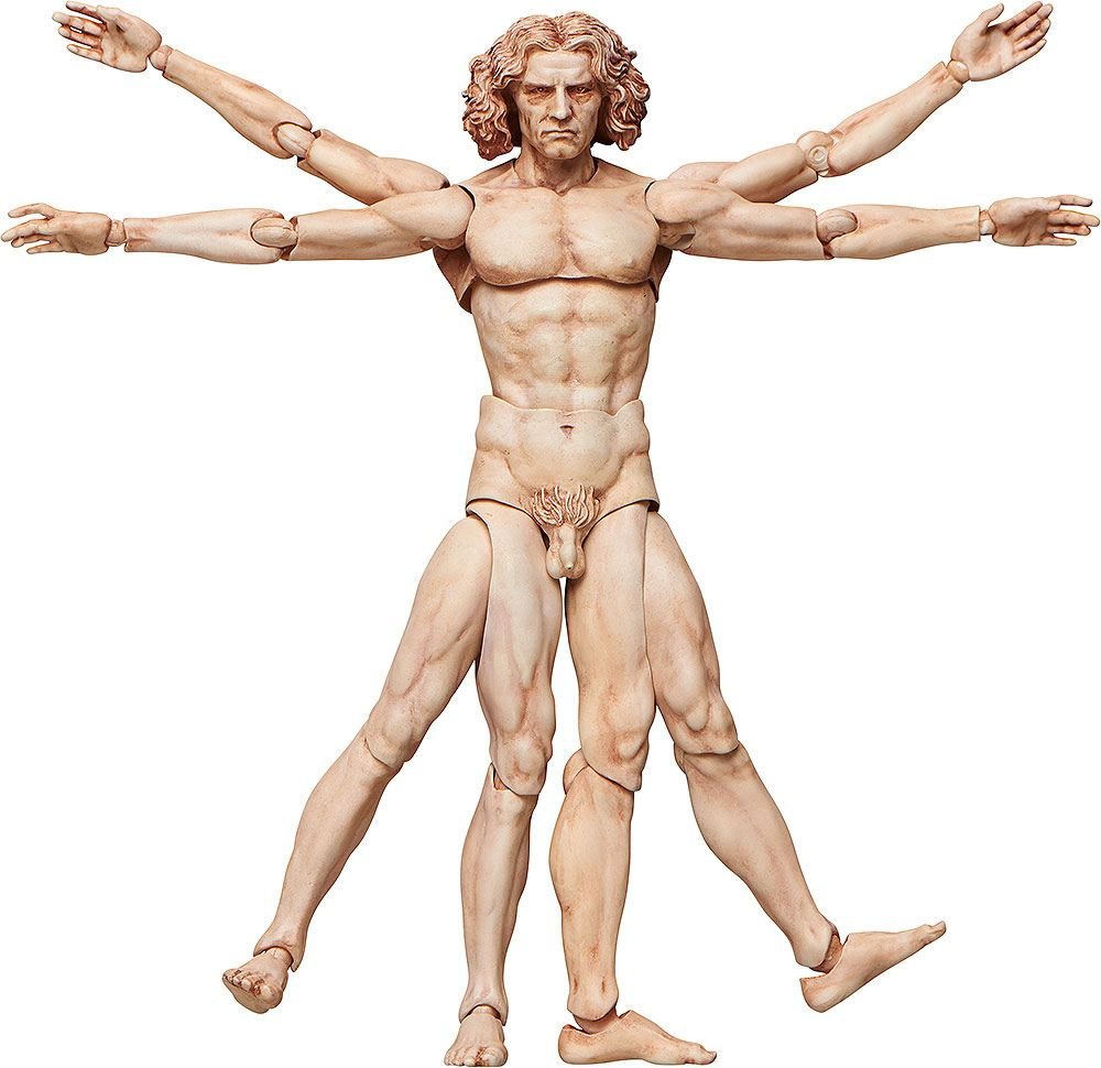 The Table Museum Figma Action Figure Vitruvian Man 16 cm