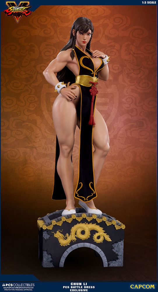 Street Fighter V Statue 1/3 Chun Li Battle Dress Exclusive 73 cm