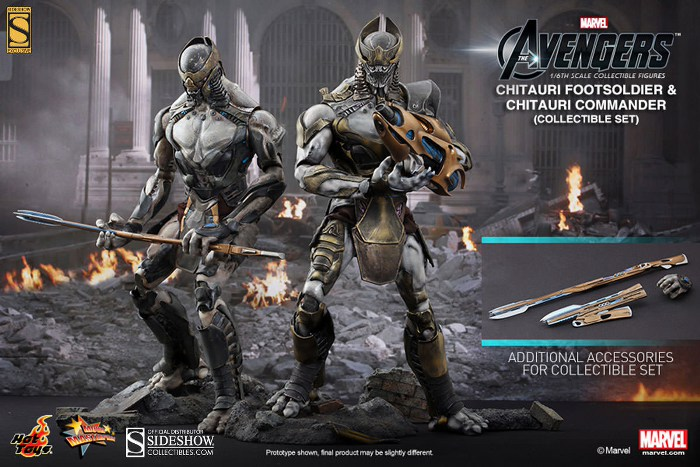 Action Figure Avengers 1/6 Scale Chitauri Commander & Footsoldier Set 30 cm