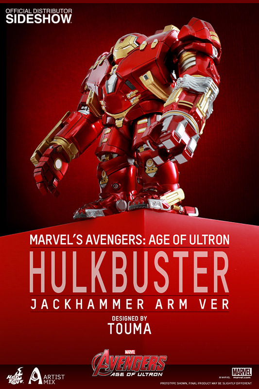Avengers Age of Ultron Jackhammer Art Bobble-Head Hulkbuster 14 cm