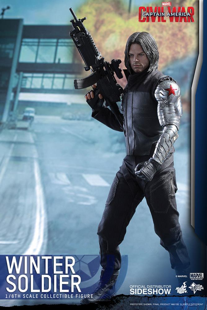 Captain America Civil War Masterpiece Action Fig. 1/6 Winter Soldier 30 cm