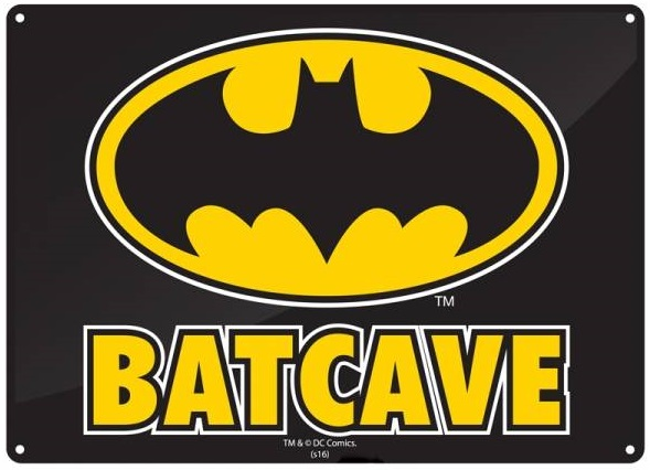 DC Comics: Batman Batcave Logo - Small Tin Sign