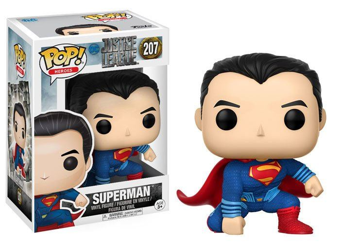 Justice League Movie POP! Movies Vinyl Figure Superman (Landing Pose) 10 cm