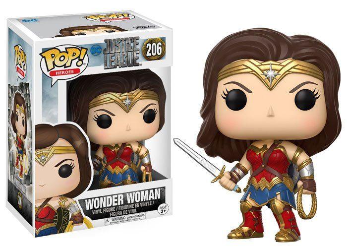 Justice League Movie POP! Movies Vinyl Figure Wonder Woman 10 cm