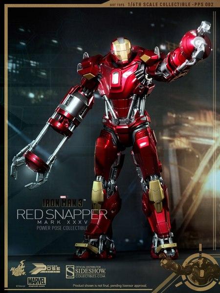 Iron Man 3 - Power Pose Series Action Figure 1/6 Iron Man Mark XXXV 34 cm