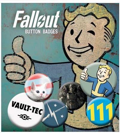 Conjunto de 6 Pins Fallout