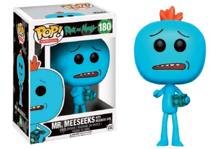 Pop Cartoons: Rick And Morty Mr. Meeseeks With Meeseeks Box Limited Edition