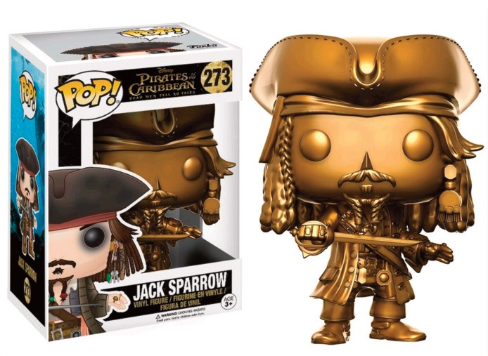 Pop! Movies: PotC - Jack Sparrow Gold Version Limited Edition 10 cm