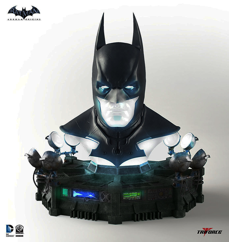 Batman Arkham Origins Cowl Full Scale 1/1 Replica 66 cm