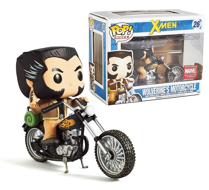 Pop! Marvel: Wolverine - Wolverine with Motorcycle Ride Limited Edition