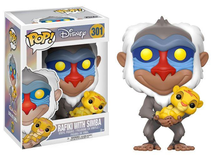 The Lion King POP! Disney Vinyl Figure Rafiki & Simba 10 cm