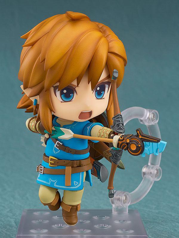 The Legend of Zelda Breath of the Wild Nendoroid Action Figure Link Deluxe