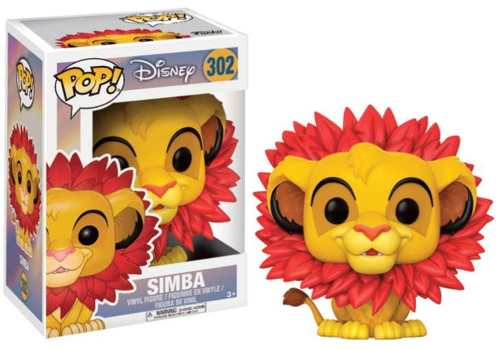 Pop! Disney: The Lion King Simba Leaf Mane Vinyl Figure 10 cm