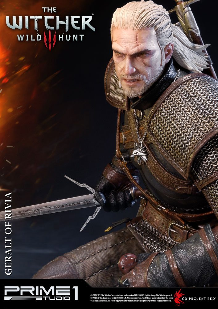 Witcher 3 Wild Hunt Statue Geralt of Rivia 66 cm