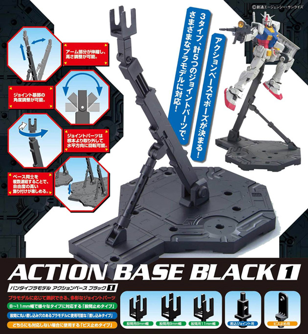 Action Base Preta/Black  (1/144 Scale)