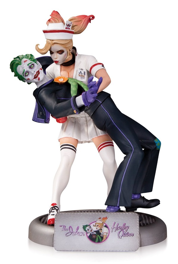 Estátua DC Comics Bombshells The Joker & Harley Quinn 25 cm