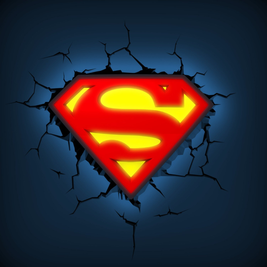 DC Comics: Superman Shield 3D Light